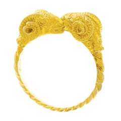 Lalaounis 1960s Ram's Head Gold Ring