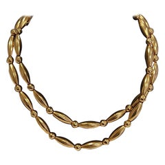 Lalaounis 22 Carat Yellow Gold Bead Necklace