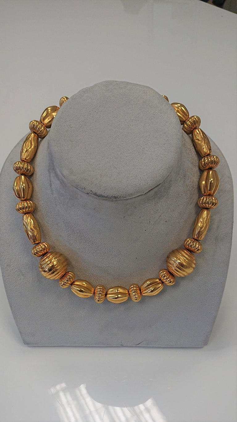 Lalaounis 22 Carat Yellow Gold Minoan Bead Pendant Necklace For Sale 2