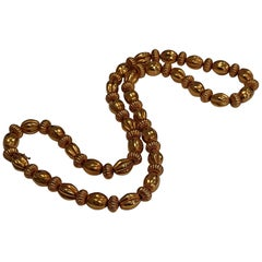 Lalaounis 22 Carat Yellow Gold Minoan Fluted Bead Necklace