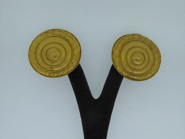 Lalaounis 22 Carat Yellow Gold Swirl Ear Clip Earrings For Sale 2