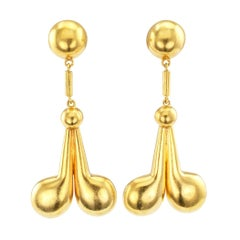 Lalaounis Dangling Gold Earrings