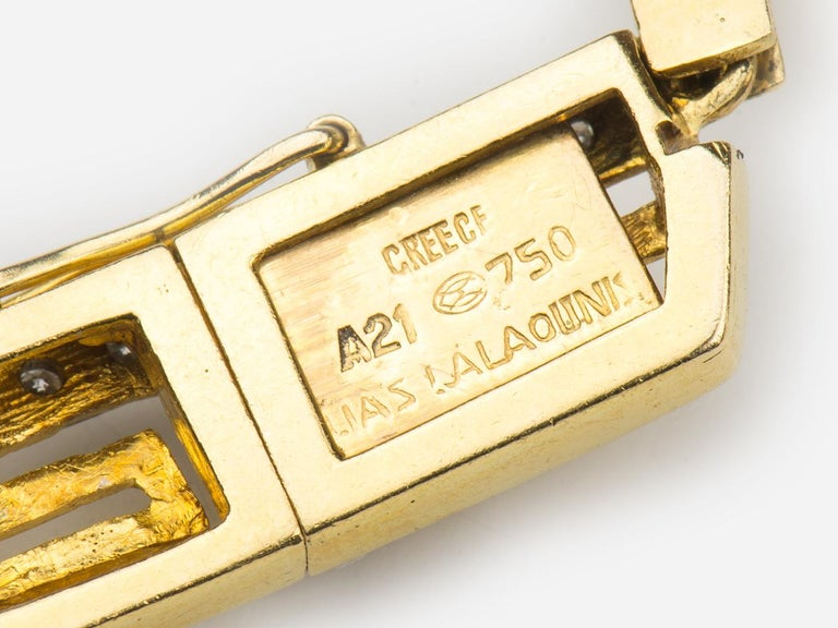 Lalaounis Diamond Greek Key Pendant Necklace For Sale 1