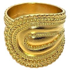 Lalaounis Etruscan Style Gold Band Ring