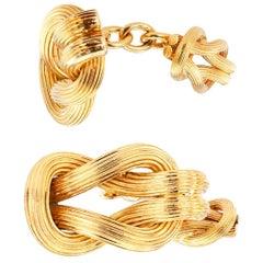 Lalaounis Gold Cufflinks