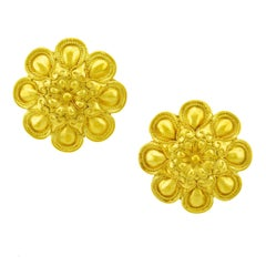Lalaounis 22k Gold Earrings