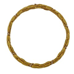 Lalaounis Greece Diamond Gold Necklace
