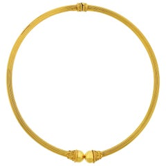 Lalaounis Greece Gold Collar Necklace