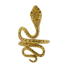 Lalaounis Greece Gold Snake Ring