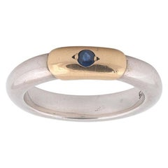 Lalaounis Greece Sterling 18 Karat Gold Sapphire Ring