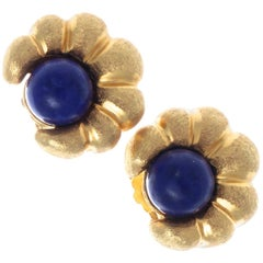 Lalaounis Lapis Lazuli Gold Earrings