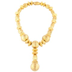 Lalaounis Yellow Gold Bead Necklace
