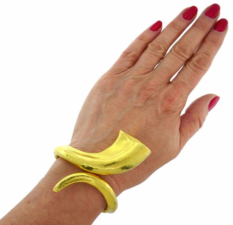 Lalaounis Yellow Gold Cuff Bracelet 2