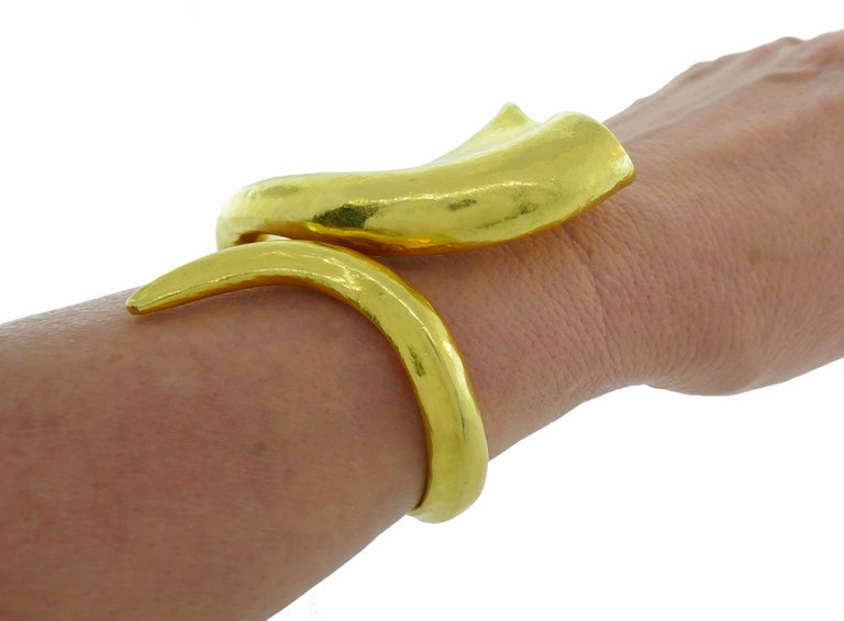 Lalaounis Yellow Gold Cuff Bracelet 3