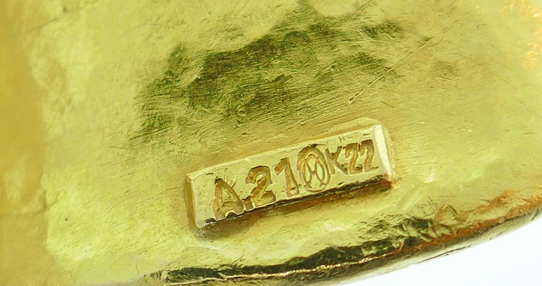 Lalaounis Yellow Gold Cuff Bracelet 4
