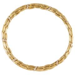 Lalaounis Yellow Gold Diamond Necklace