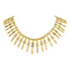 Lalaounis Yellow Gold Fringe Necklace