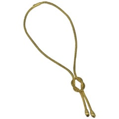 Lalaounis Yellow Gold Long Lariat Chimera Necklace