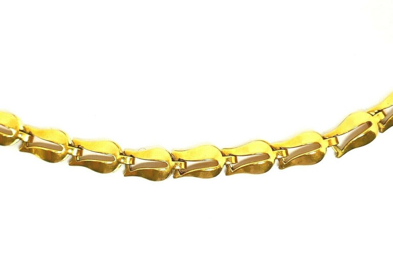 Lalaounis Yellow Gold Tulip Link Chain Necklace In Excellent Condition In Beverly Hills, CA