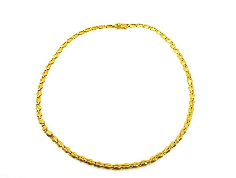 Lalaounis Yellow Gold Tulip Link Chain Necklace 1