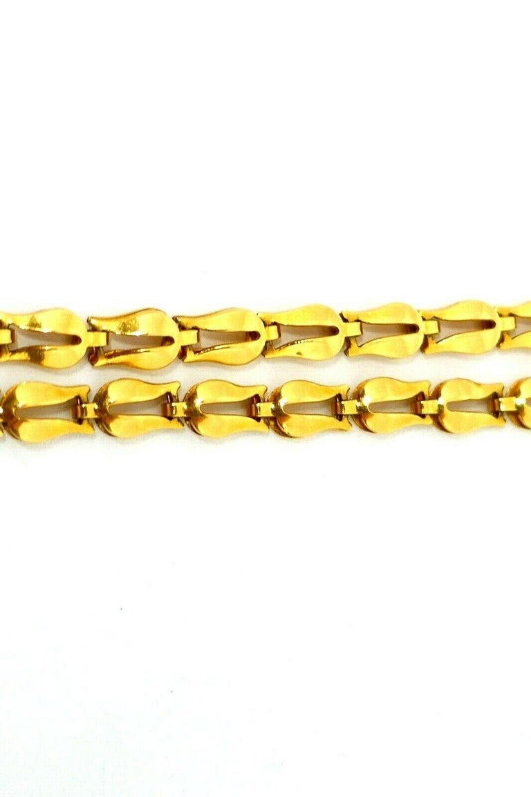 Lalaounis Yellow Gold Tulip Link Chain Necklace 4