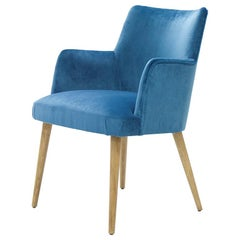 Lalia Chair with Blue Velvet