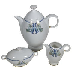 Lalique 3-Piece Limoges Porcelain Mures Blackberry Coffee Set