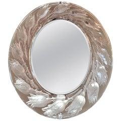 Lalique Boutons de Roses Table Mirror