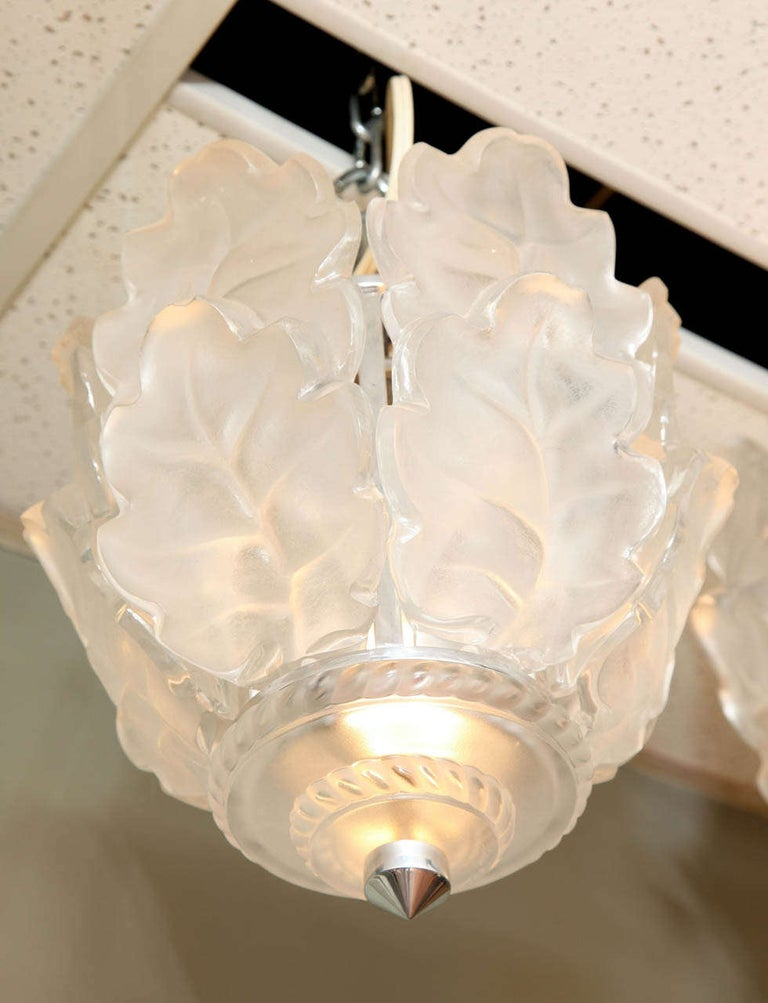 French Lalique Ceiling Fixture