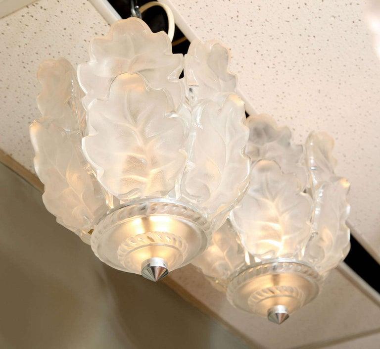 Pressed Lalique Ceiling Fixture