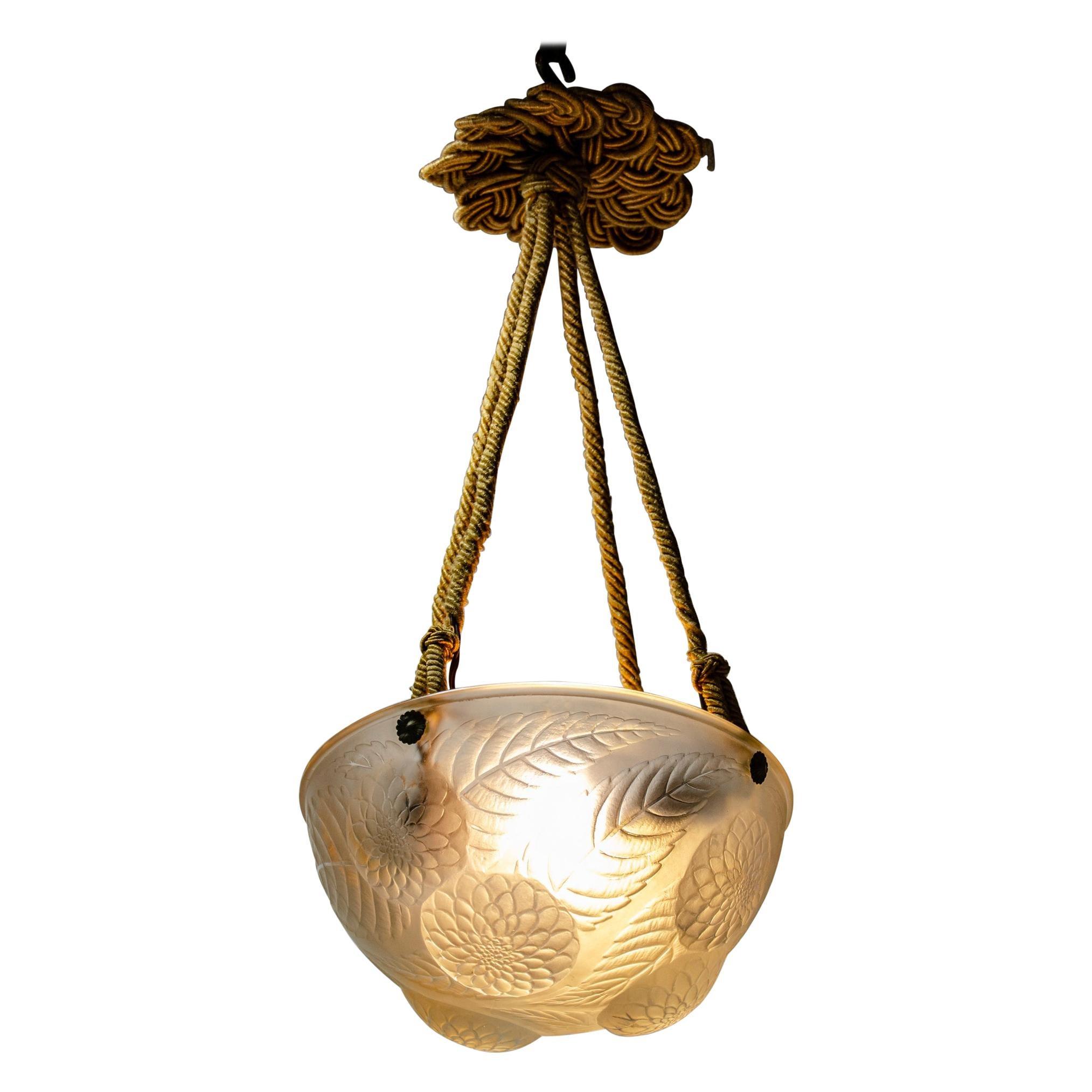 Lalique Ceiling Lamp Dalias Model