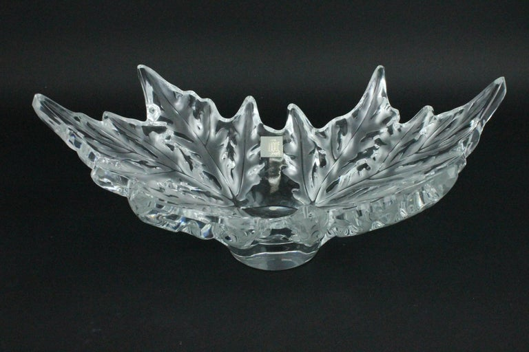 Lalique Champs-èlysèes Clear and Frosted Glass Center Bowl For Sale 1
