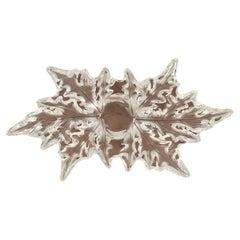 Lalique Champs-Elysees Leaf Center Piece Bowl