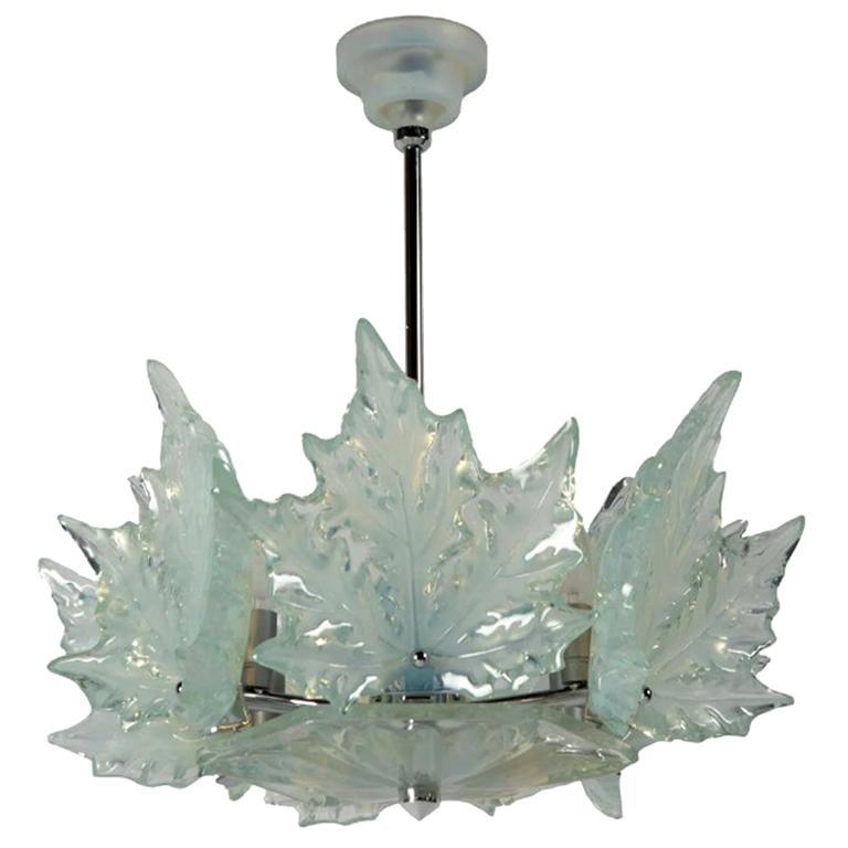 """Lalique Chandelier """"Champs Élysées"""" For Sale"""