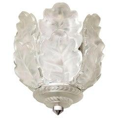 "Lalique Chandelier ""Chene"""