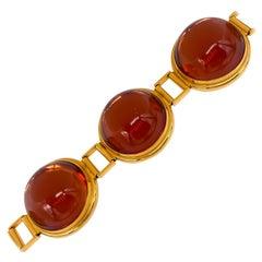 Lalique Crystal Brown Bracelet