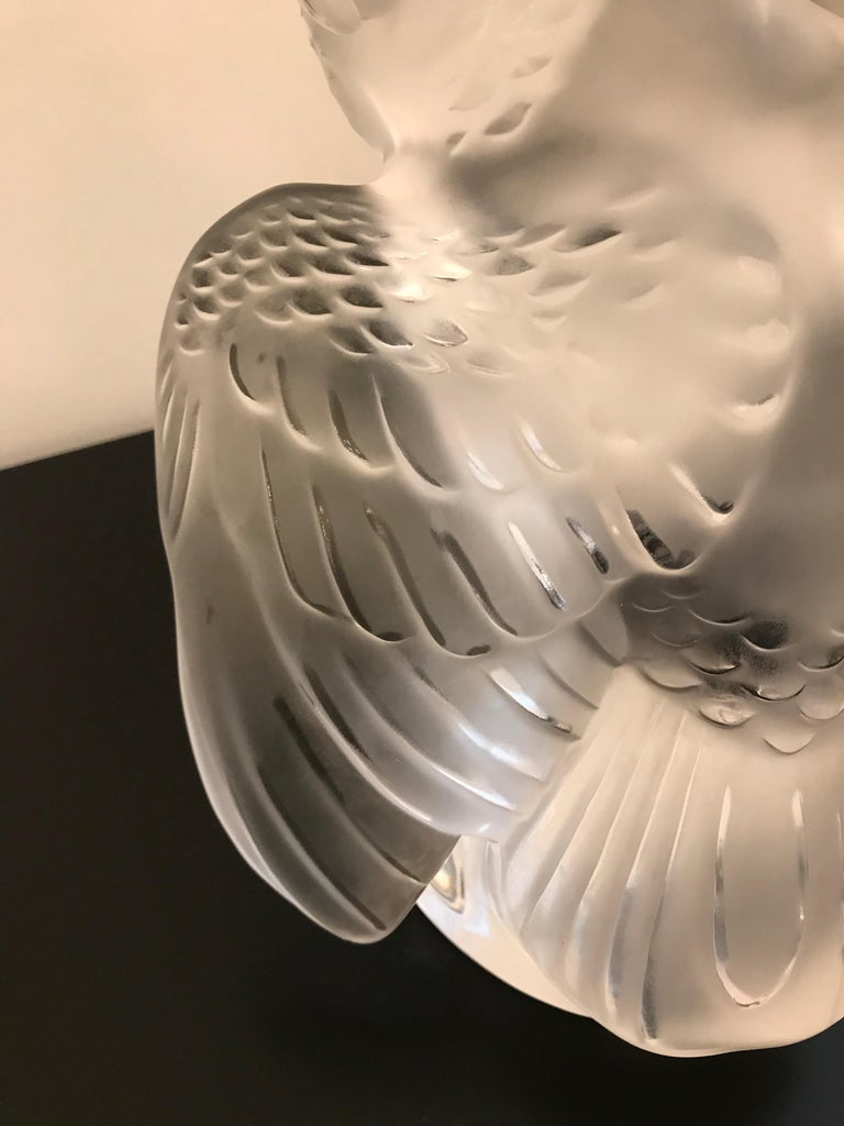 Lalique Crystal Sculpture Cockatoo Bird For Sale 7