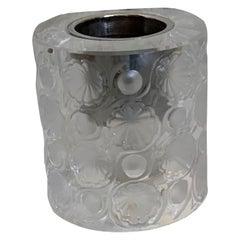 """Lalique Crystal """"Tokyo"""" Votive Candle Holder"""