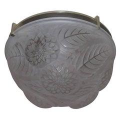 """Lalique """"Dahlias"""" Ceiling Fixture"""