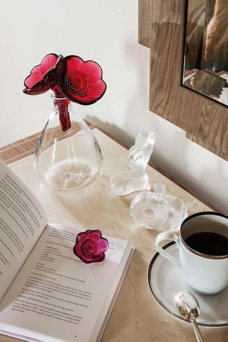 Art Deco Lalique Deux Fleurs Perfume Bottle Clear Crystal For Sale