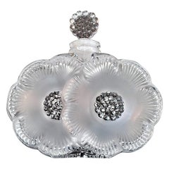 Lalique Double Daisy Perfume Bottle