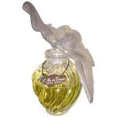 Lalique Ficticio  L,air Du Temps Large Blown Glass Bottle of Fake Perfume, 1960s