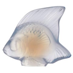 Lalique Fish Figure/Sculpture in Opal Crystal