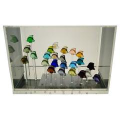 Lalique France, Aquarium of Crystal 24 Fishes-Scalars