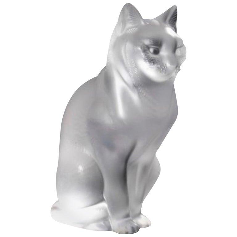 "Lalique France ""Chat Assis"" For Sale"