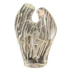 Lalique France Crystal Glass Dora Vase