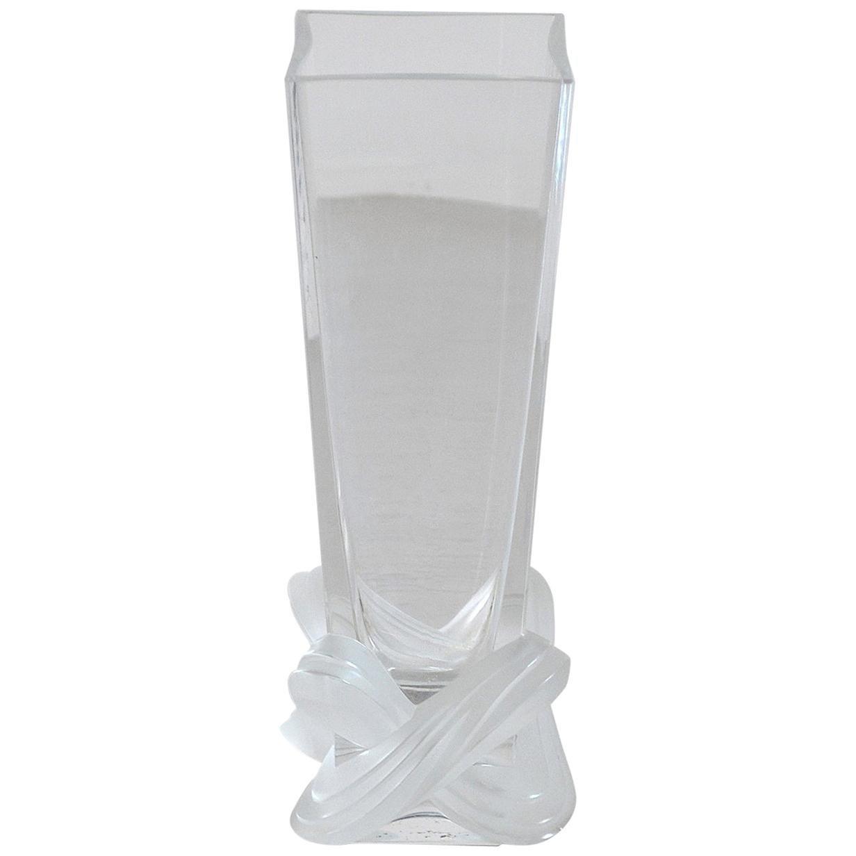 Lalique France Crystal Vase, Lucca Model
