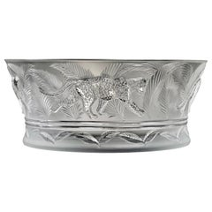 Lalique France Jungle Bowl in Clear Crystal as New with Tag