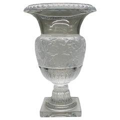 """Lalique France Large """"Versailles"""" Urn Vase"""