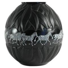 Lalique France, Tanzania Zebra Vase